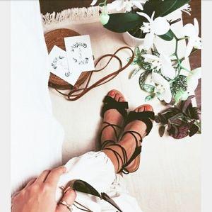 Shoes - 🆕️//The Thiva//Black lace up sandal